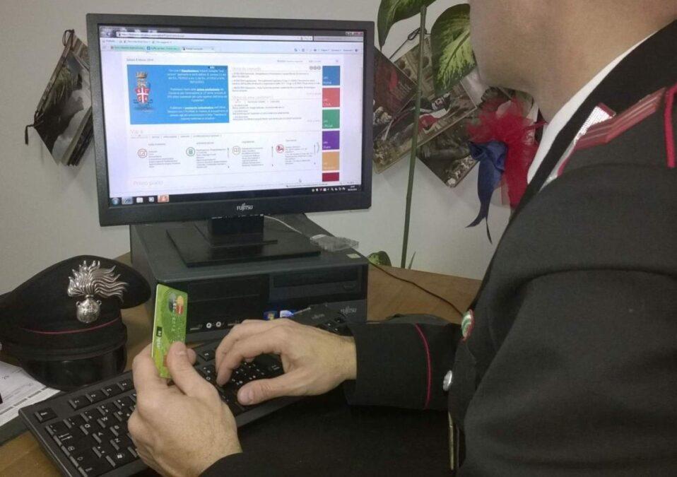 carabinieri truffa online