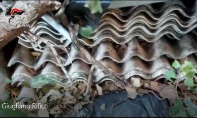 giugliano casolare rifiuiti lastra di amianto