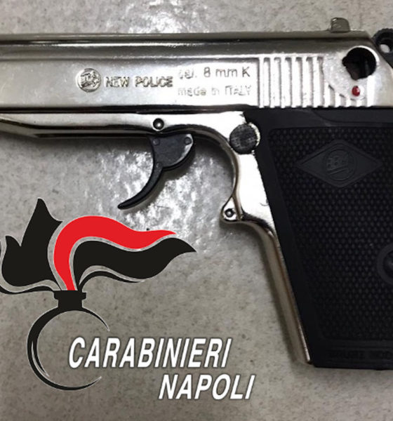Qualiano pistola sequestrata la rapinatore